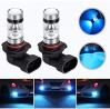 HOCOLO 9006 HB4 9012 100W Cree LED Fog Light Lamp Bulbs for DRL Fog Driving Lights 8000K Ice Blue Hi