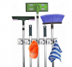Home- It Mop and Broom Holder, 5 Position with 6 Hooks Garage Storage Holds up to 11 Tools, Storage