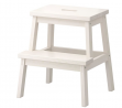 IKEA BEKVAM Home Indoor Solidwood Step Stool (White)
