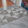 Indoor Doormat Front Door Mat Simple Pattern Area Rugs No-Slip Indoor Doormats with Durable Rubber C