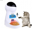 Iseebiz Automatic Cat Feeder, Auto Pet Feeder with Infrared Induction Anti-Clog Design, 10s Voice Re