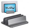 Kuzy Dual Vertical Laptop Stand, 2 Device Holder with Adjustable Dock Vertical Laptop Holder Compute