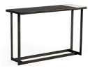 Limari Home Fargos Collection Modern Style Marble Look Ceramic and Walnut Veneer Top Console Table w
