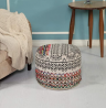 LR Home Recycled Neo-Bohemian Pouf, 18