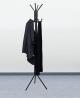 Mind Reader COATRACK11 Standing Metal Coat Rack Hat Hanger 11 Hook for Jacket, Purse, Scarf Rack, Um