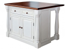 Monarch White Kitchen Island by Home Styles & Home Styles Solid Wood Counter Bar Stool 24 inch High,