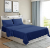 MOONCAST 4 Pieces King Bed Sheet-Extra Soft and Hotel Luxury Feeling-Durable Machine Washable Microf