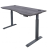 MotionWise Manager Series Dual Motorized Rising Sit/Stand Desk for Home Or Office, Dove Gray