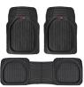 Motor Trend 923-BK Black FlexTough Contour Liners-Deep Dish Heavy Duty Rubber Floor Mats for Car SUV