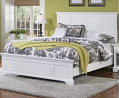 Naples White Queen Bed by Home Styles & Naples White Nightstand with Drawer, Mahogany Hardwood Solid