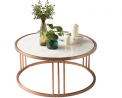 Natural Marble Coffee Table for Living Room Round End Side Tables Sturdy and Environmental Material,