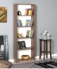Niche Lux Collection Bookcase/Display Shelves, 5-Shelf, Latte