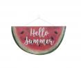 Nikki's Knick Knacks Hello Summer Watermelon Welcome Wreath Embellishment Sign