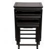 Oriental Furniture Rosewood Nesting Tables - Antique Black