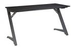 OSP Home Furnishings Beta Battlestation Gaming Desk with Bluetooth RGB LED Lights, Matte Black