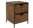 OSP Home Furnishings Clermont Storage Cabinet with 2 Drawers, Walnut Finish