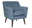 OSP Home Furnishings Dane Accent Chair, Blue Steel