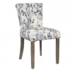 OSP Home Furnishings Kendal Dining Chair with Thick Padding, Button Tufted Back, Nailhead Detail and