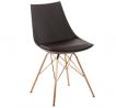 OSP Home Furnishings Oakley Mid-Century Modern Bucket Chair, Black