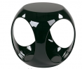 OSP Home Furnishings Slick High Gloss Finish Cube Occasional Table, Black