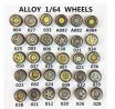 Parts & Accessories 1/64 Alloy Car Model Modified Tire Metal Wheel Hub (Random Style) - CN