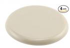 PRIME-LINE 3-1/2 in. Beige Plastic Reusable Round Furniture Sliders for Carpet (4-Pack) (MP75021)