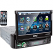 """Pyle Single DIN Head Unit Receiver - In-Dash Car Stereo with 7"""" Multi-Color Touchscreen Display -"""