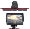 Replacement 3rd Brake Light Backup Camera + 7.0 Inch Self Standing TFT Monitor Compatible for Transp