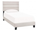 Right2Home Twin One Box Slat Bed-Fog Divan, Cream