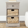 Safavieh American Homes Collection Carrie Vintage Grey Side Storage Side Table