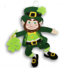 Saint Patrick's Day Decor - Jointed Felt Leprechaun Hanging Decoration