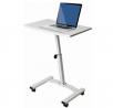 Seville Classics Height Adjustable Sitting Mobile Laptop Desk Cart Ergonomic Table, Flat (23.6