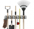 Shovel, Rake and Tool Holder with Hooks- Wall Mounted Organizer for Garage, Closet, or Shed-Hang Hom