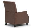 Simpli Home Noah 29 inch Wide Contemporary Push Arm Recliner in Brown Faux Leather