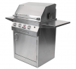 Solaire 27-Inch Deluxe InfraVection Propane Grill on Square Cart with Rotisserie Kit, Stainless Stee