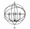 Solaris 6 Light Bronze Sphere Chandelier