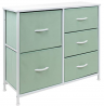 Sorbus Dresser with 5 Drawers - Bedside Furniture & Night Stand End Table Dresser for Home, Bedroom