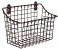 Spectrum Diversified Vintage Large Cabinet & Wall-Mounted Basket for Storage & Organization Rustic F