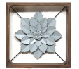 Stratton Home Décor Stratton Home Decor Framed Metal Flower, 15.75