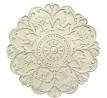 Stratton Home Decor -- Dropship, us home, SUHQX S03354 Stratton Home Decor Shabby White Medallion Wa