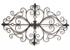Stratton Home Decor SHD0138 Traditional Scroll Wall Decor, 25.00 W X 0.50 D X 36.00 H, Black