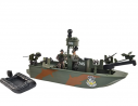 Sunny Days Entertainment Navy Warfare Gunboat – Vehicle with 2 Army Men Action Figures and Realist