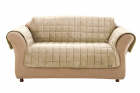 Sure Fit Home Décor Deluxe Microban Protective Finish One Piece Sofa Furniture Cover, Quilted Velve