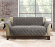 SureFit Home Décor SF44891 Microfiber Sofa Quilted Furniture Throw Pet Loveseat Cover, Relaxed Fit,