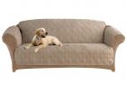 SureFit Home Decor Microfiber Pet Sofa One Piece Quilted Furniture Cover, Relaxed Fit, Polyester, Ma