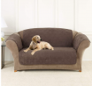 SureFit Home Decor Microfiber Pet Universal Cushion Loveseat One Piece Quilted Furniture Throw Cover