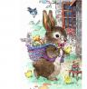 Toland Home Garden 1012287 Vintage Easter Bunny 28 x 40 Inch Decorative, House Flag (28