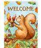 Toland Home Garden 1012472 Welcome Squirrel 28 x 40 Inch Decorative, House Flag (28