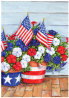 Toland Home Garden 109616 Patriotic Pansies 28 x 40 Inch Decorative, House Flag (28