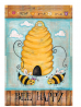 Toland Home Garden Bee Happy 12.5 x 18 Inch Decorative Cute Buzzing Bees Hive Garden Flag